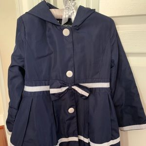 Jackets & Blazers - Navy girls rain coat/ light jacket